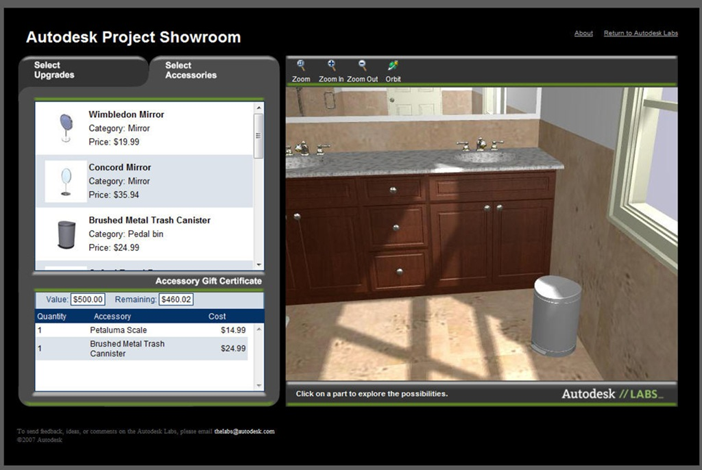 Autodesk Project Showroom 3d Web Based Visualization Is